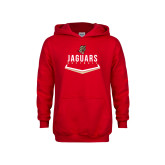 Youth Red Fleece Hoodie-Jaguars Softball