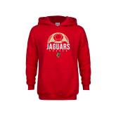 Youth Red Fleece Hoodie-Jaguars Soccer