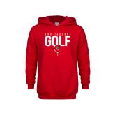 Youth Red Fleece Hoodie-Jaguars Golf
