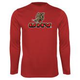 Performance Red Longsleeve Shirt-UHV Logo