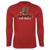 Performance Red Longsleeve Shirt-UHV Softball