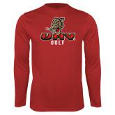 Performance Red Longsleeve Shirt-UHV Golf