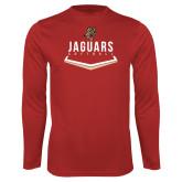 Performance Red Longsleeve Shirt-Jaguars Softball