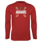 Performance Red Longsleeve Shirt-Jaguars Ball Stitches