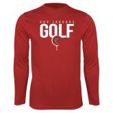 Performance Red Longsleeve Shirt-Jaguars Golf