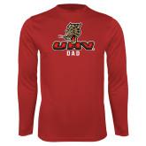 Performance Red Longsleeve Shirt-UHV Dad