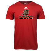 Adidas Climalite Red Ultimate Performance Tee-UHV Logo