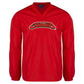 V Neck Red Raglan Windshirt-UHV Jaguars
