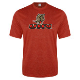 Performance Red Heather Contender Tee-UHV Logo