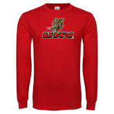 Red Long Sleeve T Shirt-UHV Logo