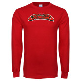 Red Long Sleeve T Shirt-UHV Jaguars