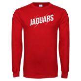 Red Long Sleeve T Shirt-Jaguars