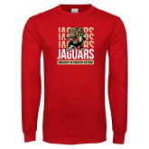Red Long Sleeve T Shirt-Jaguars Graphic