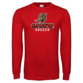 Red Long Sleeve T Shirt-UHV Soccer