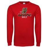 Red Long Sleeve T Shirt-UHV Golf