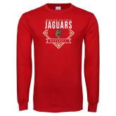 Red Long Sleeve T Shirt-Jaguars Baseball