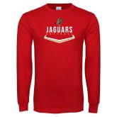Red Long Sleeve T Shirt-Jaguars Softball