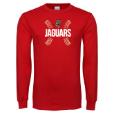 Red Long Sleeve T Shirt-Jaguars Ball Stitches