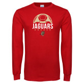 Red Long Sleeve T Shirt-Jaguars Soccer