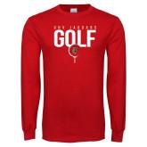 Red Long Sleeve T Shirt-Jaguars Golf