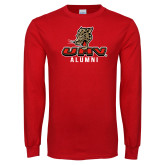 Red Long Sleeve T Shirt-UHV Alumni