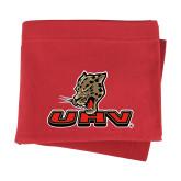 Red Sweatshirt Blanket-UHV Logo