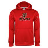 Under Armour Red Performance Sweats Team Hoodie-UHV Logo