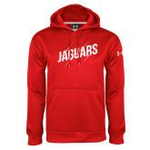 Under Armour Red Performance Sweats Team Hoodie-Jaguars