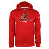Under Armour Red Performance Sweats Team Hoodie-UHV Softball