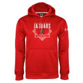 Under Armour Red Performance Sweats Team Hoodie-Jaguars Baseball