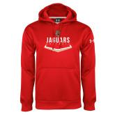 Under Armour Red Performance Sweats Team Hoodie-Jaguars Softball