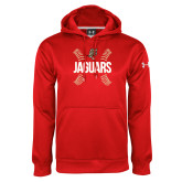 Under Armour Red Performance Sweats Team Hoodie-Jaguars Ball Stitches