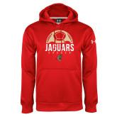 Under Armour Red Performance Sweats Team Hoodie-Jaguars Soccer