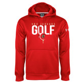 Under Armour Red Performance Sweats Team Hoodie-Jaguars Golf