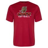 Performance Red Tee-UHV Softball