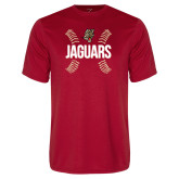 Performance Red Tee-Jaguars Ball Stitches