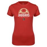 Ladies Syntrel Performance Red Tee-Jaguars Soccer