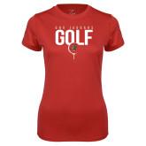 Ladies Syntrel Performance Red Tee-Jaguars Golf