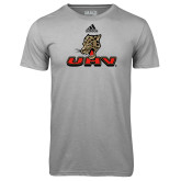 Adidas Climalite Sport Grey Ultimate Performance Tee-UHV Logo
