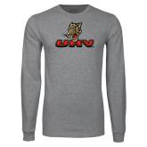 Grey Long Sleeve T Shirt-UHV Logo