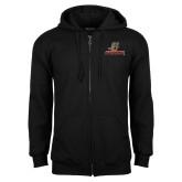 Black Fleece Full Zip Hoodie-UHV Logo