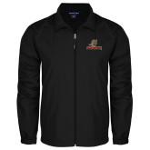Full Zip Black Wind Jacket-UHV Logo