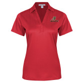 Ladies Red Performance Fine Jacquard Polo-UHV Logo