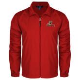 Full Zip Red Wind Jacket-UHV Logo