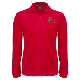 Fleece Full Zip Red Jacket-UHV Logo