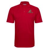 Red Textured Saddle Shoulder Polo-UHV Logo