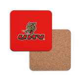 Hardboard Coaster w/Cork Backing-UHV Logo