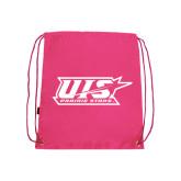 Pink Drawstring Backpack-UIS Prairie Stars - Official Logo