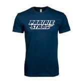 Next Level SoftStyle Navy T Shirt-Prairie Stars - Stacked