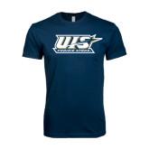 Next Level SoftStyle Navy T Shirt-UIS Prairie Stars